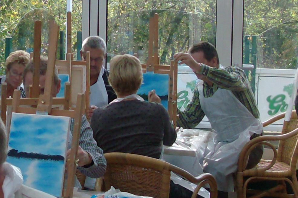 Workshop schilderen in Giethoorn